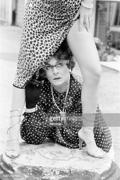 Barry Humphries, as Dame Edna Everage, pictured with his wife Diane Millstead, 17th June 1979.