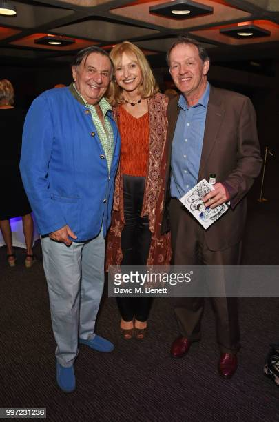 Barry Humphries Lizzie Spender and Kevin Whately attend the press night performance of 'Barry Humphries' Weimar Cabaret' at The Barbican Centre on...