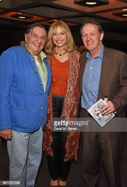 Barry Humphries Lizzie Spender and Kevin Whately attend the press night performance of Barry Humphries' Weimar Cabaret at The Barbican Centre on July...