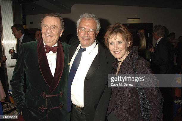 Barry Humphries Michael White and Marjorie Wallace attends the Sir John Betjeman Gala after party at the Prince of Wales Theatre on September 10 in...