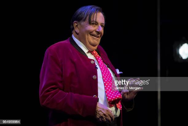 Barry Humphries performs on stage at the Civic Theatre during his first show of the tour of Barry Humphries The Man Behind the Mask on May 5 2018 in...