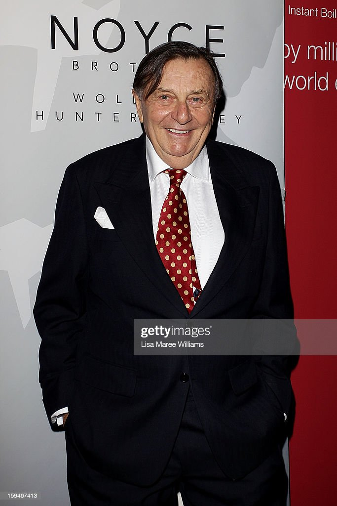 Barry Humphries walks the red carpet at the 2012 Sydney Theatre Awards at the Paddington RSL on January 14, 2013 in Sydney, Australia.