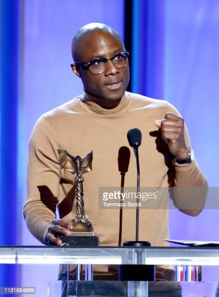 "Barry Jenkins accepts Best Director for ""If Beale Street Could Talk"" onstage during the 2019 Film Independent Spirit Awards on February 23 2019 in..."