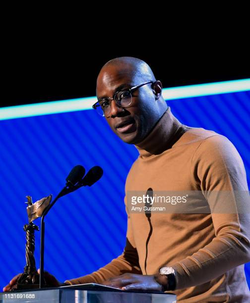Barry Jenkins accepts the Best Director award for 'If Beale Street Could Talk' onstage during the 2019 Film Independent Spirit Awards on February 23...