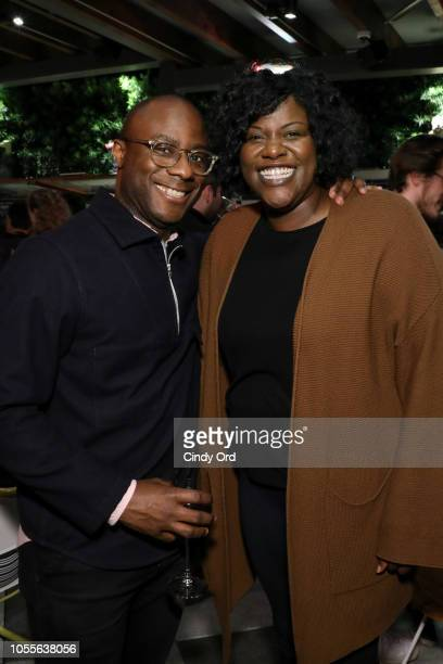 Barry Jenkins and Joi McMillon attend the 21st SCAD Savannah Film Festival reception on October 30, 2018 in Savannah, Georgia.