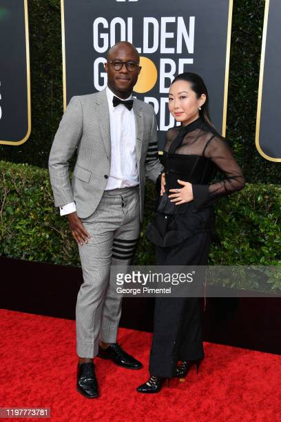 Barry Jenkins and Lulu Wang attend the 77th Annual Golden Globe Awards at The Beverly Hilton Hotel on January 05 2020 in Beverly Hills California