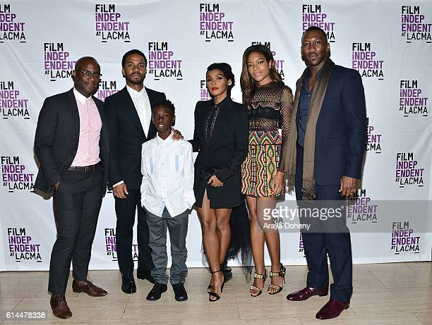 Barry Jenkins Andre Holland Alex Hibbert Janelle Monae Naomie Harris and Mahershala Ali attend the Film Independent at LACMA screening and QA of...