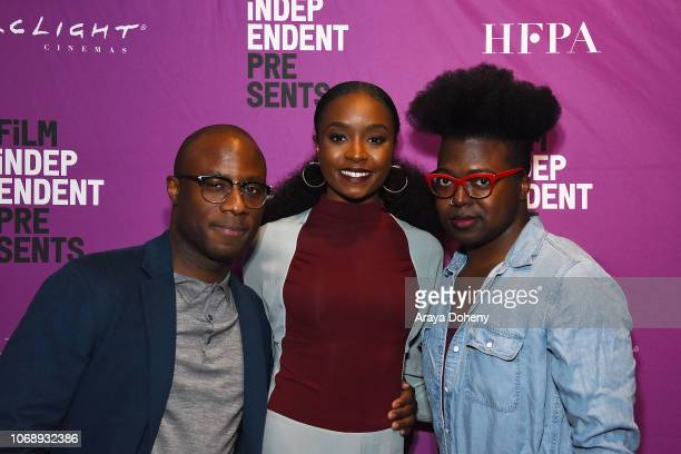 Barry Jenkins KiKi Layne and Tre'vell Anderson attend the Film Independent Special Screening of 'If Beale Street Could Talk' at ArcLight Hollywood on...