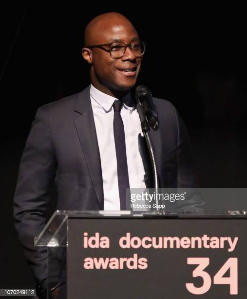 Barry Jenkins speaks onstage during the 2018 IDA Documentary Awards on December 8 2018 in Los Angeles California