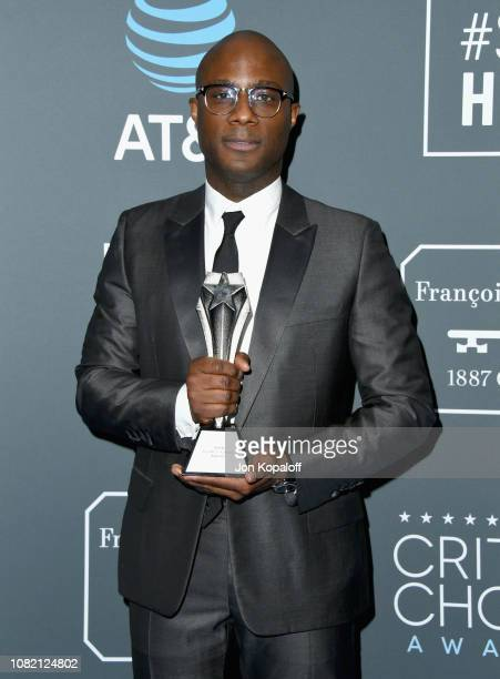 Barry Jenkins winner of Best Adapted Screenplay for 'If Beale Street Could Talk' poses in the press room during the 24th annual Critics' Choice...