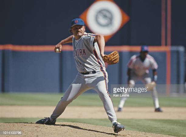 Barry Jones pitcher for the New York Mets on the mound during the Major League Baseball National League West game against the San Diego Padres on 23...