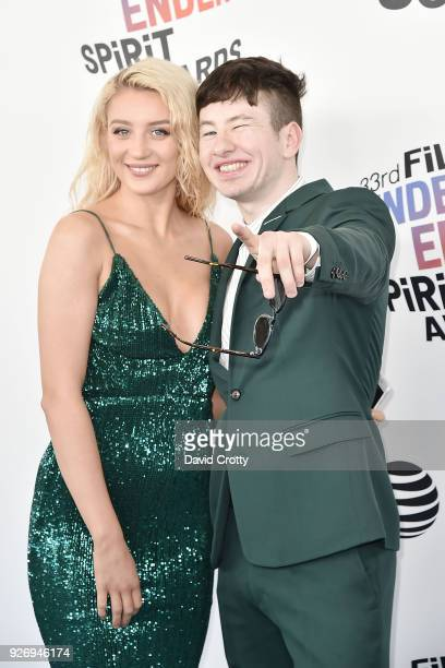 Barry Keoghan and guest attend the 2018 Film Independent Spirit Awards Arrivals on March 3 2018 in Santa Monica California