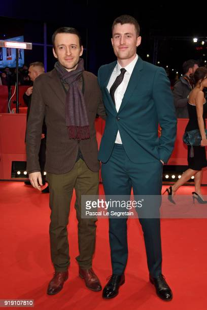 Barry Keoghan and James Frecheville attend the 'Black 47' premiere during the 68th Berlinale International Film Festival Berlin at Berlinale Palast...