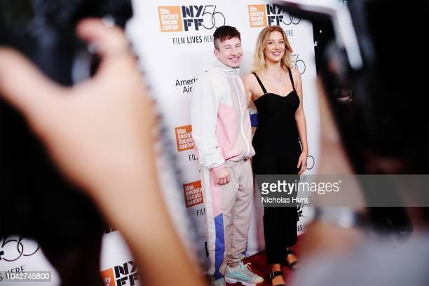 Barry Keoghan and Shona Guerin attend the 56th New York Film Festival Opening Night Premiere Of The Favourite at Alice Tully Hall Lincoln Center on...