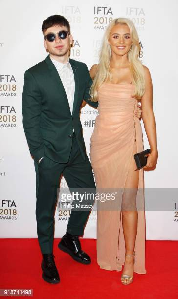 Barry Keoghan and Shona Guerin attend the 'IFTA Film Drama Awards' at Mansion House on February 15 2018 in Dublin Ireland
