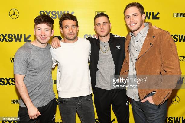 Barry Keoghan Bart Layton Jared Abrahmson and Blake Jenner attend the American Animals Premiere 2018 SXSW Conference and Festivals on March 9 2018 in...