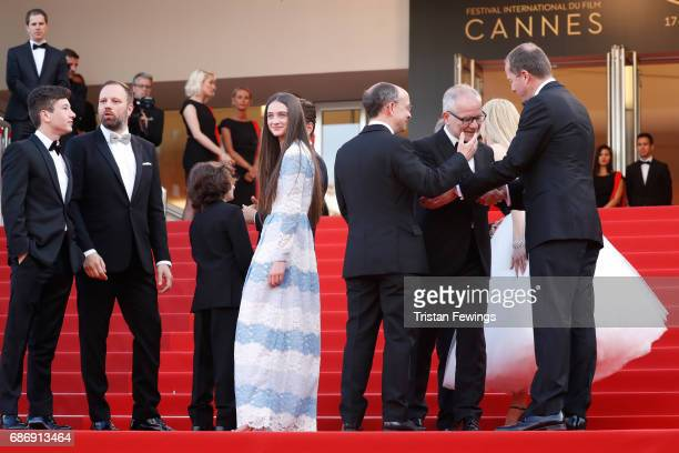 Barry Keoghan director Yorgos Lanthimos Sunny Suljic Raffey Cassidy producer Ed Guiney Director of the Cannes Film Festival Thierry Fremaux and...