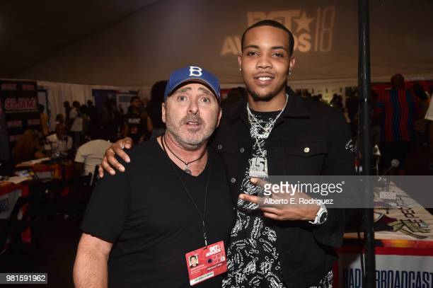 Barry Krutchik and G Herbo attend day one of the 2018 BET Awards Radio Remotes on June 22 2018 in Los Angeles California