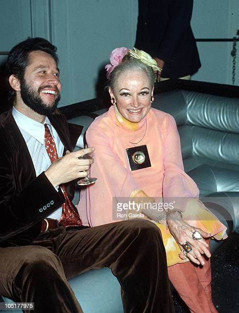 Barry Landau and Phyllis Diller during 19771978 Soho Arts Awards After Party at Studio 54 in New York City NY United States