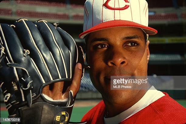 Barry Larkin of the Cincinnati Reds poses for a portrait in May of 1994 at Cinergy Field in Cincinnati Ohio Larkin played for the Reds from 19862004