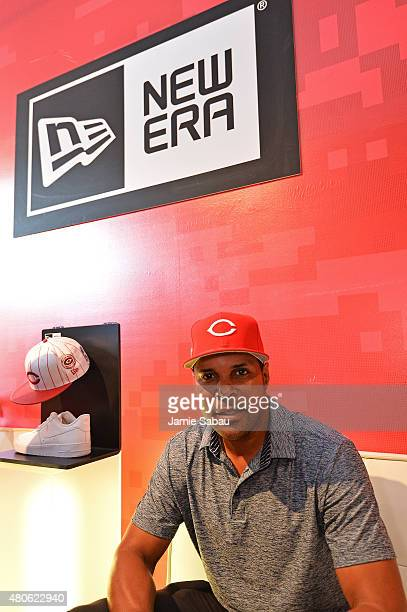 Barry Larkin poses for a photo during the New Era Corporate/BTS Presents 'REDStory' event on July 13 2015 in Cincinnati Ohio