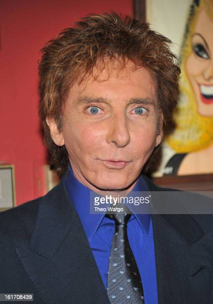 Barry Manilow attends his Caricature Unveiling At Sardi's at Sardi's on February 14 2013 in New York City