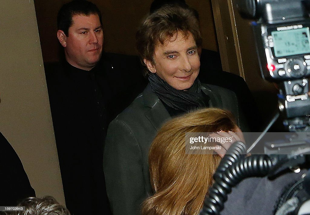Barry Manilow attends the 'Manilow On Broadway' opening night at the St. James Theatre on January 18, 2013 in New York City.