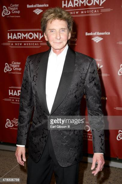 Barry Manilow attends the Musical 'Harmony' on opening night at the Ahmanson Theatre on March 12 2014 in Los Angeles California