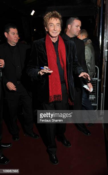 Barry Manilow attends the opening night of 'The Hurly Burly Show' at Garrick Theatre on March 11 2011 in London England