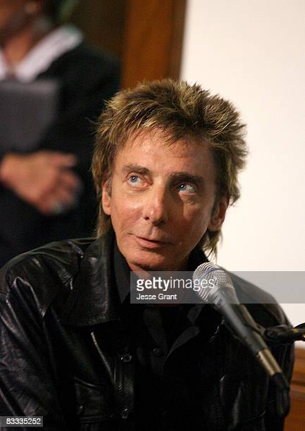 Barry Manilow attends the wedding of Michael Feinstein and Terrence Flannery held at a private residence on October 17 2008 in Los Angeles California