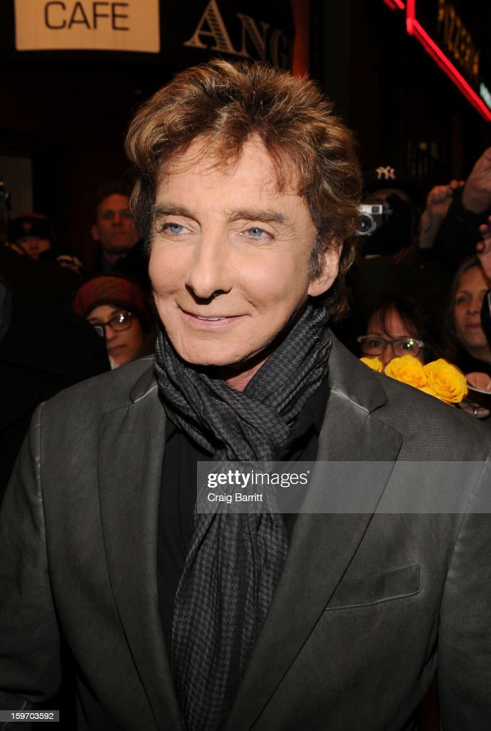 Barry Manilow Broadway fan meet and greet at St. James Theatre on January 18, 2013 in New York City.