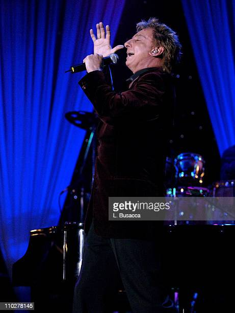 Barry Manilow during 2006 Clive Davis PreGRAMMY Awards Party Show at Beverly Hilton in Beverly Hills California United States