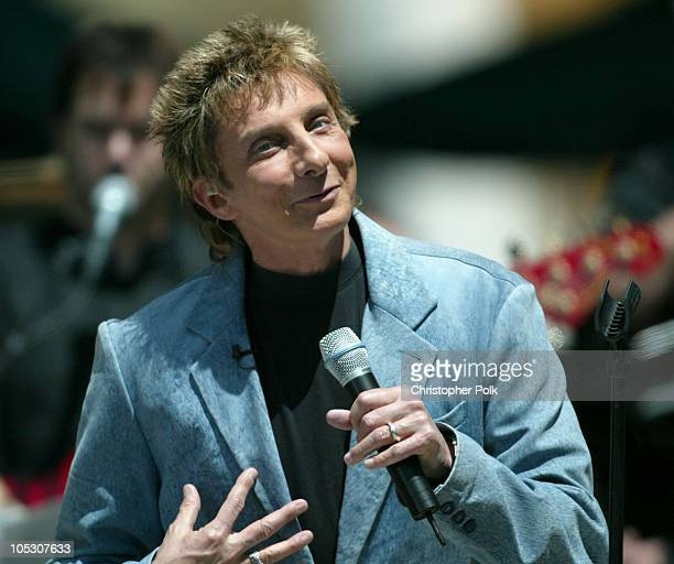 Barry Manilow during Barry Manilow and Jennifer Hudson Perform 'On Air with Ryan Seacrest' at Hollywood and Highland in Hollywood California United...