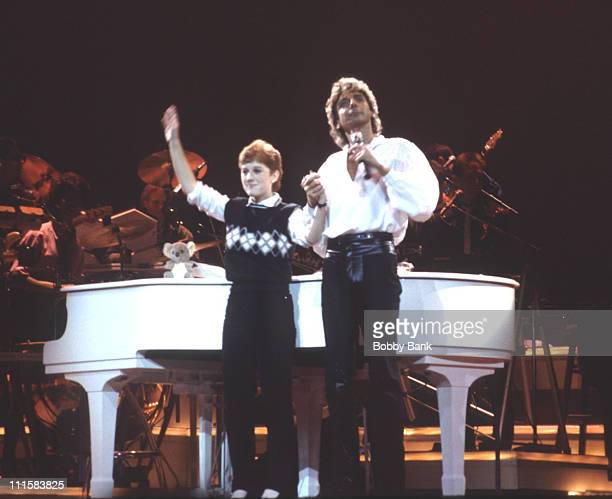 Barry Manilow during Barry Manilow in Concert at Radio City Music Hall October 30 1984 at Radio City Music Hall in New York City New York United...