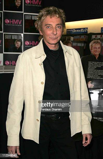 Barry Manilow during Barry Manilow In Store Appearance December 3 2006 at HMV Oxford in London Great Britain