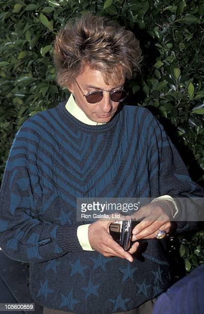 Barry Manilow during Barry Manilow Sighting at Le Dome Restaurant April 11 1991 at Le Dome Restaurant in West Hollywood California United States