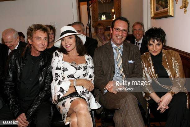 Barry Manilow Joan Collins Percy Gibson and Liza Minnelli attend the wedding of Michael Feinstein and Terrence Flannery held at a private residence...