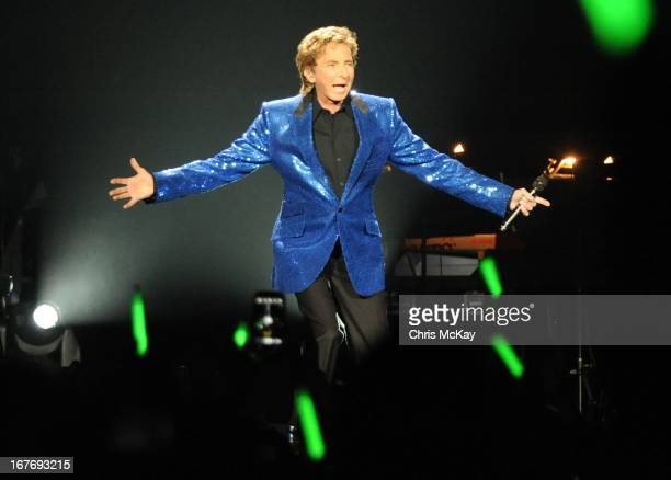 Barry Manilow performs at Arena at Gwinnett Center on April 27 2013 in Duluth Georgia