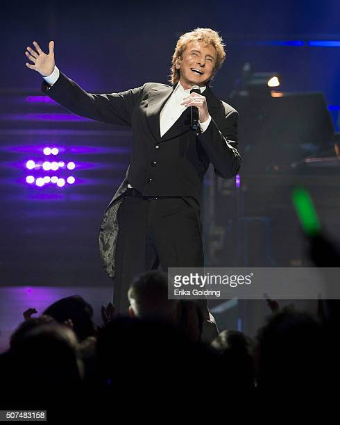 Barry Manilow performs at Smoothie King Center on January 29 2016 in New Orleans Louisiana