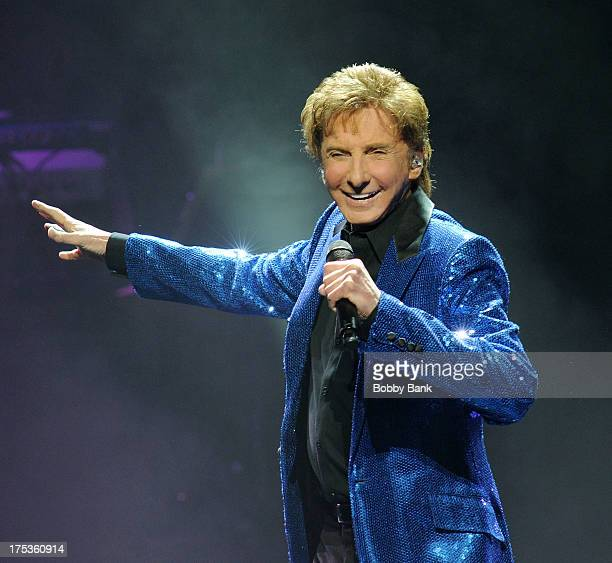 Barry Manilow performs at the New Jersey Performing Arts Center on August 2 2013 in Newark New Jersey