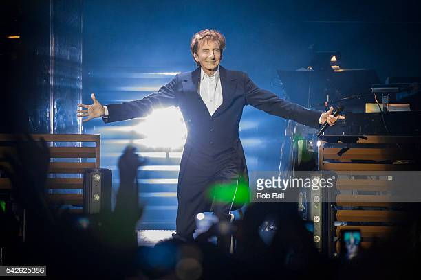 Barry Manilow performs at The O2 Arena on June 23 2016 in London England