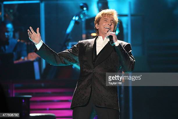 Barry Manilow performs during the final date of his 'One Last Time' tour on his 72nd birthday at Barclays Center in his hometown of Brooklyn New York...