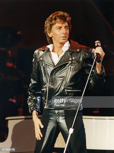 Barry Manilow performs on stage at Wembley Arena on January 4th 1986 in London England