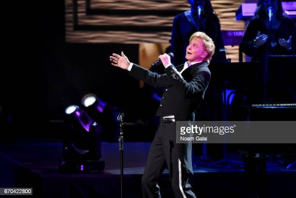 Barry Manilow performs onstage during the 'Clive Davis The Soundtrack of Our Lives' Premiere Concert during the 2017 Tribeca Film Festival at Radio...
