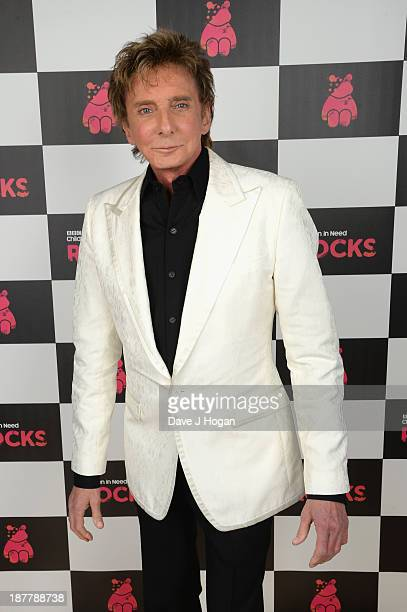 Barry Manilow poses backstage during the 'BBC Children In Need Rocks' at Eventim on November 12 2013 in London England BBC Children In Need Rocks...