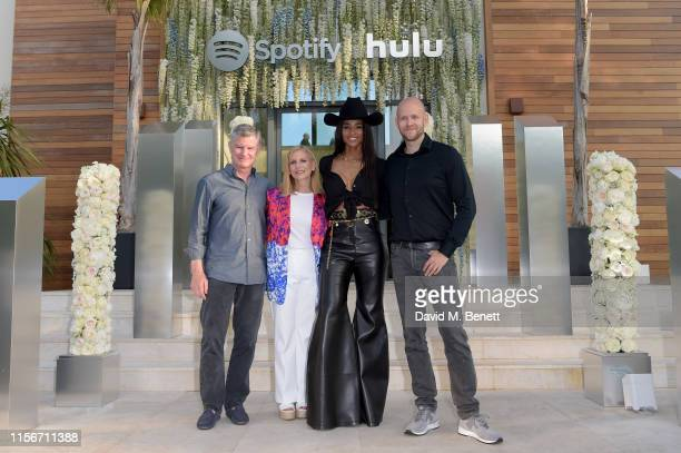 Barry McCarthy, Dawn Ostroff, Ciara and Daniel Ek attend an intimate evening of music and culture hosted by Spotify and Hulu during Cannes Lions 2019...