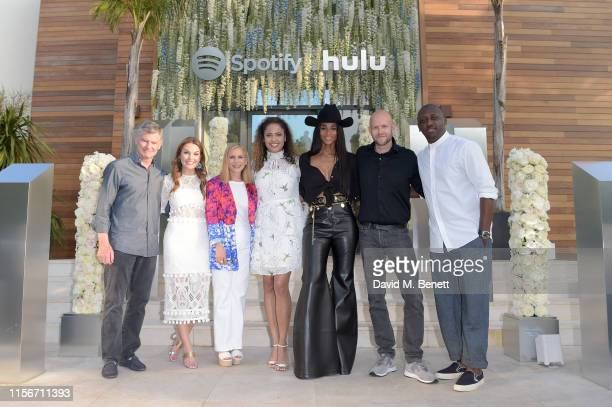 Barry McCarthy, Dustee Jenkins, Dawn Ostroff, Danielle Lee, Ciara, Daniel Ek and Chaka Zulu attend an intimate evening of music and culture hosted by...