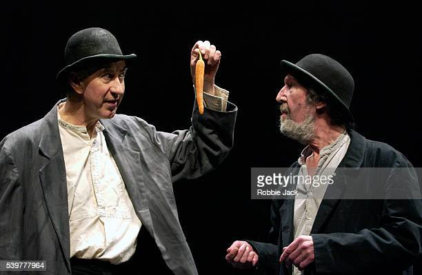 Barry McGovern and Johnny Murphy in the production of Waiting For Godot at the Barbican Theatre in London