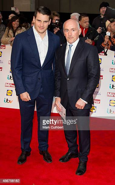 Barry McGuigan and Shane McGuigan attend the Pride of Britain awards at The Grosvenor House Hotel on October 6 2014 in London England