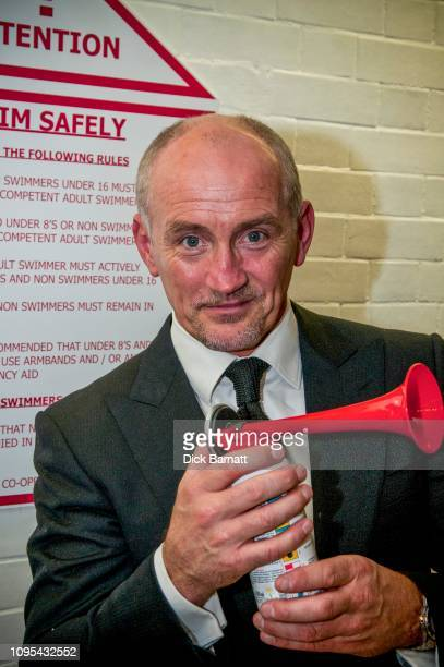 Barry McGuigan retired Irish boxer poses at Porchester Baths London 16th November 2011